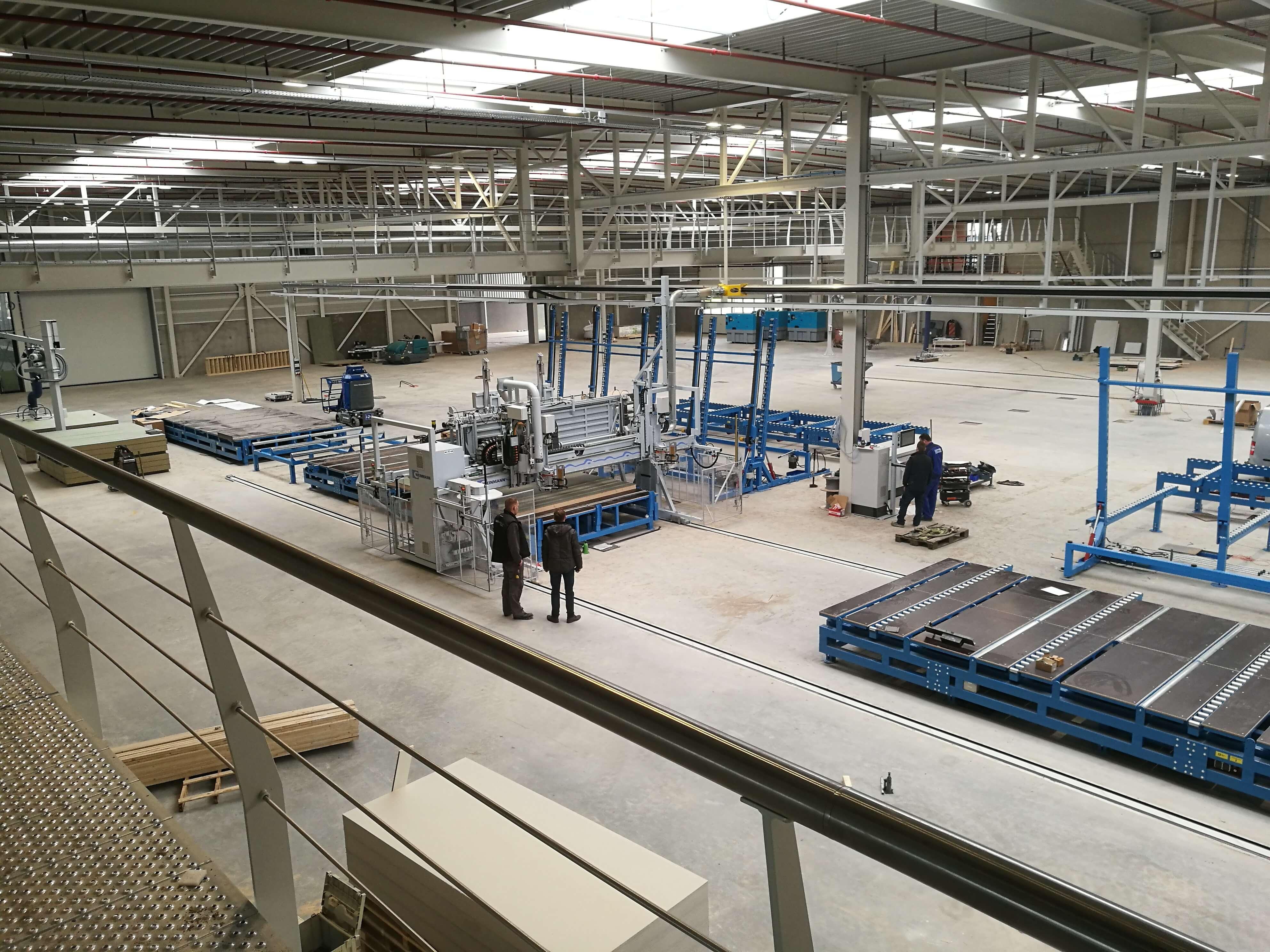 Complete installatie voor productiehal groothuisbouw in emmeloord